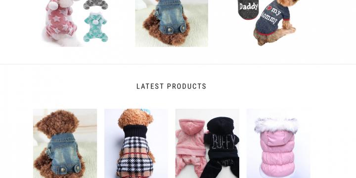 PET CLOTHING WEBSITE